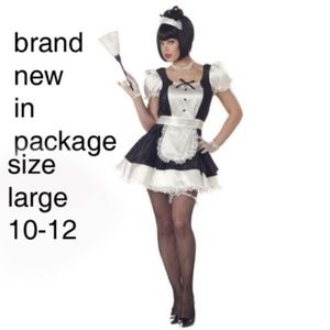 Fiona the French maid costume size large 10-12 nwt